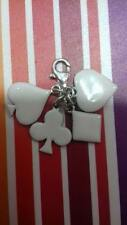 925 Silver clip on bracelet / pendant charms  House of cards