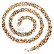 "C12 20-36""Men stainless steel Gold Silver BALI Byzantine Antiqued necklace chain"