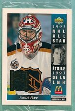 1993-94 McDonald's JUMBO #McD-23 Patrick Roy in Cello Pack