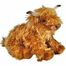 23cm Living Nature Highland Cow Soft Toy With Sound