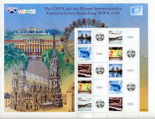 United Nations UN Personalized Sheet Stamp S26 Vienna WIPA 2008 Expo