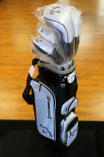 Callaway Solaire 13 Piece Ladies Golf Set W/ Black White Cart Bag Women's NEW