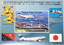 PAPUA NEUGUINEA NEW GUINEA 1997 Block 13 923 Air Niugini 1st Flight Flugzeuge **