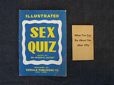1943 Illustrated Sex Quiz & What You Can Do About Sex After Fifty booklets funny