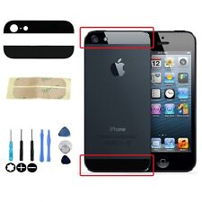 iPhone 5 5G Top & Bottom Back Replacement Rear Glass Panel  + Tool Kit Set