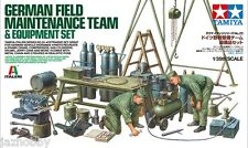 Tamiya 37023 1/35 Scale Model WWII German Field Maintenance Team w/Equipment Set