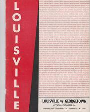Dec. 2, 1958 Louisville vs. Georgetown Football Program