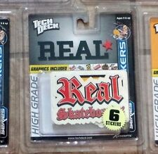 Tech Deck Real Skateboard Sticker Set Mint on Card in NEW Sealed Package 2002