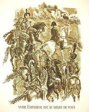 Napoléon Bonaparte Strasbourg discours du 29 sept 1805 par A Decaris 1952 52cm