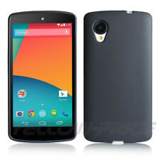 Brand New LG Google Nexus 5 Flexible TPU Case Cover,Black,+Free Matte Film