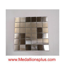 Stainless Steel Mosaic Backsplash Tile Stain Less Tiles Kitchen Tile Bathroom