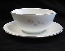 NORITAKE GRAVY BOAT WITH ATTACHED UNDERPLATE - PASADENA 6311