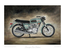 Motorcycle Limited Edition Print by Steve Dunn - Triumph T150 Trident (1969)