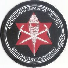 6th Infantry Division Embroidered Patch - Light Infantry - Ft Richardson, Alaska