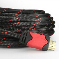 24K Gold Braided HDMI to HDMI Cable 25 feet - Protective Nylon Jacket Audio Cord