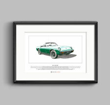 Jensen-Healey Mk1 Limited Edition Fine Art Print A3 size