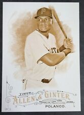 2016 Topps Allen & Ginter Gold 5x7 Card Gregory Polanco Pittsburgh Pirates 9/10