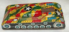 Army Tank M-57 Military Camo Tin Friction Ichimura Japan 1960's Vintage Toy Game