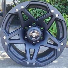 4 ~ 17x8 White Diamond Truck Wheels WD-5313 Matte Black Dodge Ram 1500 wheels