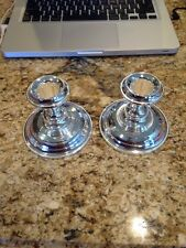 Silver Plated EP Zinc Made In England Pair Of Candlestick Holders
