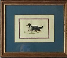 Rough Collie Framed and Matted Needlepoint Wall Hanging - support collie rescue