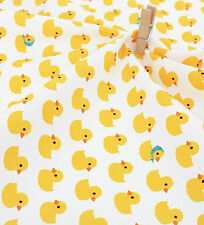 Baby ducks 100% Cotton Remnant  fabric 110cm x 22.5cm Quilting fabric off cut y