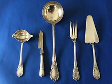 CHRISTOFLE MARLY SET 5 SERVING PIECES,DESSERT/CAKE,GRAVY LADLE,KNIFE,SOUP SPOON,