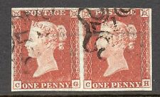 Sg8au 1841 1d red plate 41 (CG & CH) late used of the London MX with 1 in cross