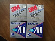 Sony 3.5 Inch Micro Floppy Disks Discs ~3M Double Density=NEW 4 Boxes