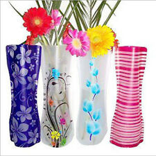 1PC New Colorful Plastic Foldable Vase Flower Wedding Party Home Office Decor