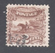 U.S.#113 ---  2c POST HORSE AND RIDER - 1869 -- USED