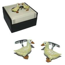 Duck CUFFLINKS Yellow Pond Nest Birdwatcher Twitcher Cruise Birthday Present