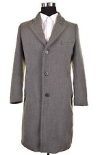 Dries Van Noten Gray TWEED Woven Wool Mens Topcoat Over Coat Jacket IT 48 US 38