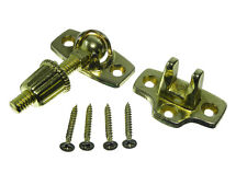1 Screw Down Sash Window Brass Plated  Fastener Catch Lock Eb & Screws