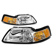 Mustang Headlights 1999-2004 Chrome Bezel Pair Left Right New