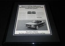 1972 Toyota Framed 11x14 ORIGINAL Vintage Advertisement