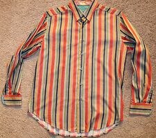 Robert Graham Designer Shirt Fancy LS size Medium M nice