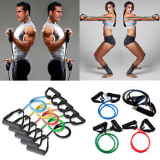 Neu Fitness Yoga Abs Gym Gummiband Resistance Widerstand Schlauch Band Training