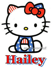 CUSTOM PERSONALIZED HELLO KITTY T SHIRT PARTY FAVOR BIRTHDAY PATRIOTIC ADD NAME