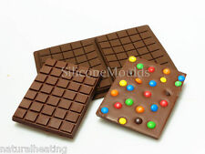 2 cell LARGE SLAB BAR Chocolate Mould Professional Silicone Bakeware Mold