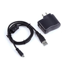 1A USB AC/DC Power Adapter Battery Charger Cord For Olympus T-100 T-110 Camera