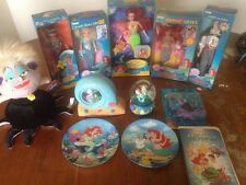 Little Mermaid Lot Of NIB Dolls, Snow Globes, Collectors Plates, More! Tyco