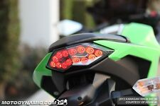 13-17 Kawasaki Ninja 300 INTEGRATED Turn Signal LED Tail Light SMOKED LENS