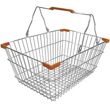 Chrome shopping basket With Two Handles
