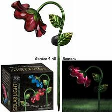 RED Mini BELL FLOWER Solar Light Garden Stake Creekwood Regal Art & Gift Boxed
