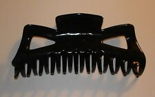 BLACK Extra Large Hair Jaw Clip Claw Alligator 5 1/2 inches Barette Butterfly