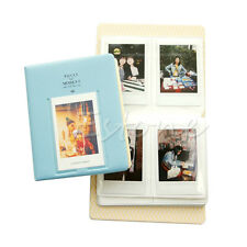 Blue 64 Pockets Photo Album Case For Fujifilm Mini8 Instax 7s 25 50s 90 Polaroid