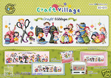 """The Craft village"" Cross stitch pattern leaflet. Big Chart. SODA SO-G72"