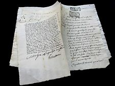 LOT OF TWO OLD DOCUMENTS  1600s