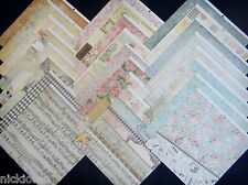 12X12 Scrapbook Paper Cardstock DCWV Primrose Stack Floral Butterfly Bird 24 Lot